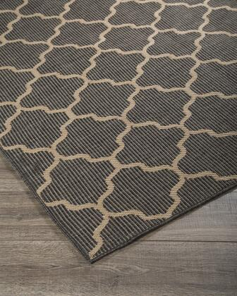 """Milo Italia Dexter RG418360TM """" x """" Size Rug with Trellis Pattern, Machine-Tufted Made, Polypropylene Material in Grey Color"""