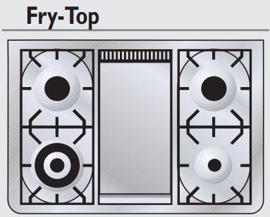 "Ilve UM90FVGGY Majestic Series 36"" Freestanding Gas Range with 23,500 BTU, 5 Burners, 3.5 Cu. Ft. Capacity, Griddle, Rotisserie, 2 Racks, Removable Door & Oil Rubbed Bronze Trim:"