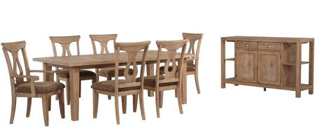 Sunset Trading DLUDV4482KO8PC Dove Dining Room Sets