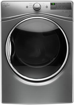 """Whirlpool WGD85HEFx 27"""" Gas Dryer with 7.4 cu. ft. Capacity, Advance Moisture Sensing System, EcoBoost Option, Steam Refresh Cycle, Wrinkle Shield Option, Sanitize Cycle and Quick Dry Cycle, in"""