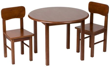 "Gift Mark 1407x 28"" Round Table and Set of Two Chairs with Simple Design,  Great for Smaller Children and Wood Construction in"