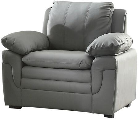 "Glory Furniture 40"" Chair with Removable Backs, Pillow Top Arms, Wood Frame Construction and Faux Leather Upholstery in"