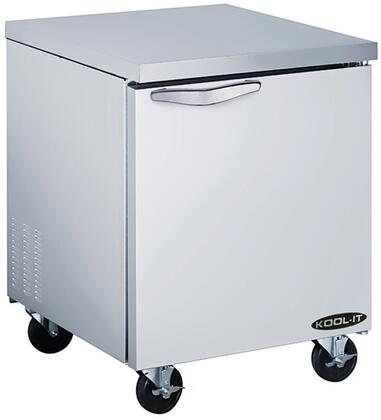 "Kool-It KUCFx "" Freezer with cu. ft. Capacity, Doors, Shelves, HP, in Stainless Steel"