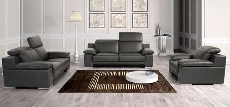 VIG Furniture VGNTEVERGREENBLK Modern Leather Living Room Set