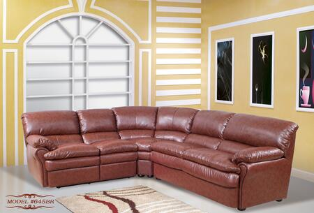Meridian 645BR  Stationary Bonded Leather Sofa