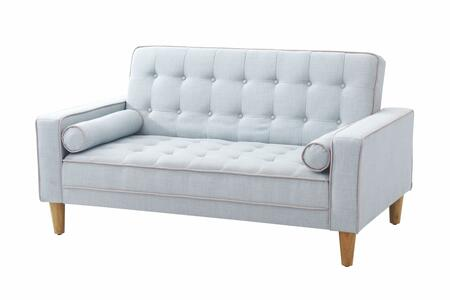 Glory Furniture G833L G800 Series Fabric Convertible Loveseat