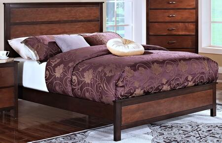 New Classic Home Furnishings 00-145-B Bishop Bed with Sophisticated Lines, Contemporary Design, Hardwood Solids and Veneers, in Chestnut/Ginger