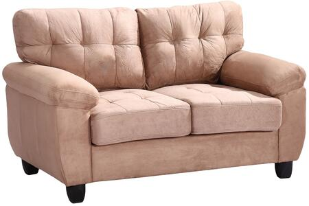Glory Furniture G904AL Suede Stationary Loveseat