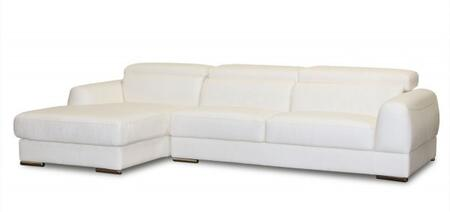 Diamond Sofa CHICAGOLFSECTW Chicago Series  Sofa