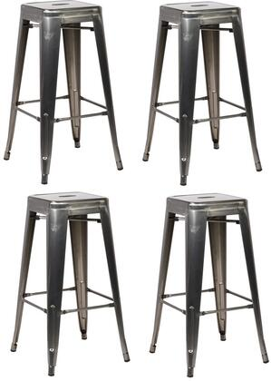 EdgeMod EM126POLX4 Trattoria Series Commercial Not Upholstered Bar Stool