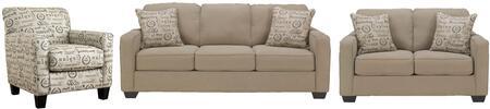 Milo Italia MI3459SLCQUAR Elisha Living Room Sets