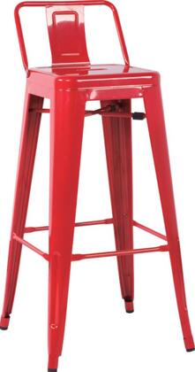 Chintaly 8030BSRED 8030 Series Residential Not Upholstered Bar Stool