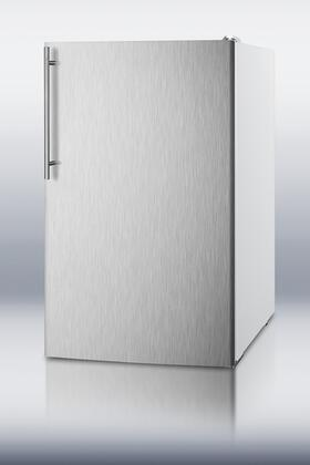 Summit CM4057SSHV  Freestanding Counter Depth Compact Refrigerator with 4.1 cu. ft. Capacity, 2 Wire ShelvesField Reversible Doors