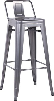 Chintaly 8030-BS Stackable Indoor and Outdoor Galvanized Steel Bar Stool in