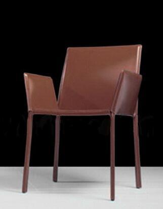 Modloft CDC114C4 Sanctuary Series Modern Leather Metal Frame Dining Room Chair