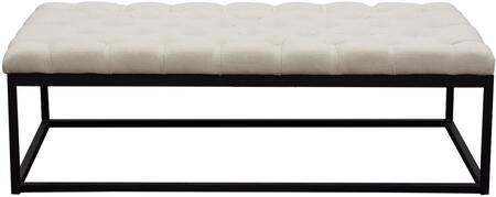 Diamond Sofa MATEOBELSD Mateo Series Accent Armless Metal Fabric Bench