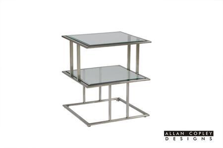 Allan Copley Designs 2080502CL Mirage Series Contemporary Square End Table