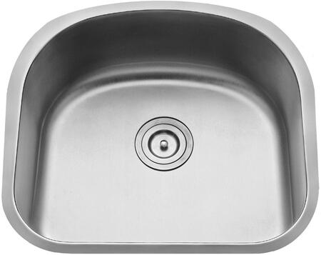 "Kraus KBU10KPF21SD20 Premier Series 23"" Undermount Single-Bowl Kitchen Sink with Stainless Steel Construction, Sound Insulation, and Included Kitchen Faucet"