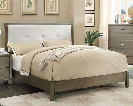 Furniture of America CM7068GYQBED Enrico I Series  Queen Size Bed