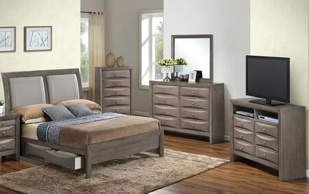Glory Furniture G1505DDFSB2CHDMTV2 G1505 Full Bedroom Sets
