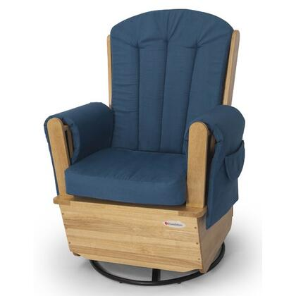 "Foundations Saferocker Collection 4303XXX 42"" Swivel Glider with Extra Wide Seat and High Density Deluxe Foam Padding"