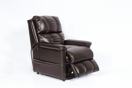Klaussner CHAUCERCH Chaucer Series Casual Bonded Leather Wood Frame  Recliners