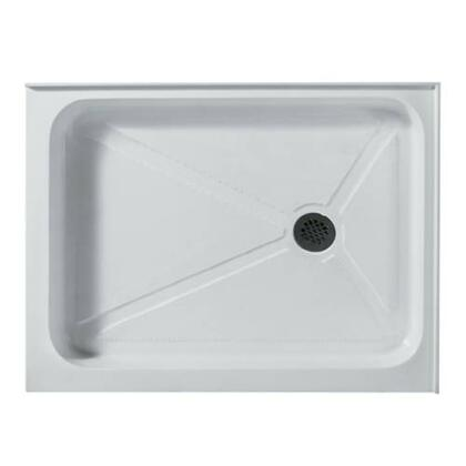 "Vigo VG06019WHT3240 32"" x 40"" Rectangular Shower Tray in White with X Drain"