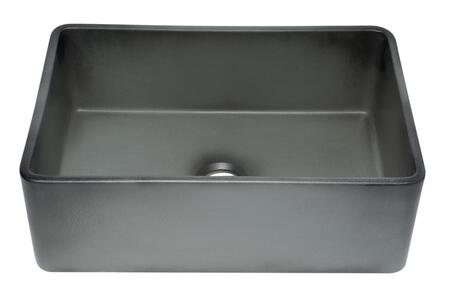 Alfi ABCO3X20SB Reversible Single Fireclay Farmhouse Kitchen Sink in Concrete Color