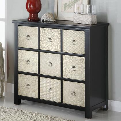 Coaster 950117 Accent Cabinets Series Freestanding Wood 3 Drawers Cabinet