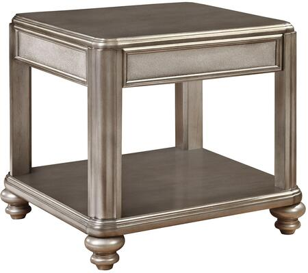 Coaster 704617 Bling Game Series Contemporary Wood Square None Drawers End Table