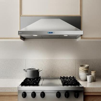 Elica EMD53XS2 Aspire Series Modena Under Cabinet Hood with 520 CFM Internal Blower, Dishwasher-Safe Stainless Steel Micro Hole, Multi-Function Electronic with LCD Display, 4 Fan Speeds, and 2 Halogen Lights: Stainless Steel