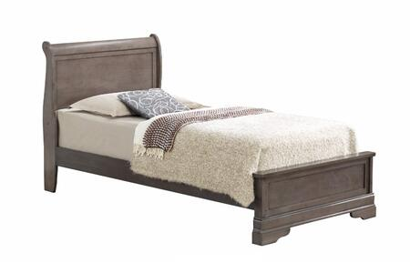 Glory Furniture G3105EFB3 G3100 Series  Full Size Sleigh Bed