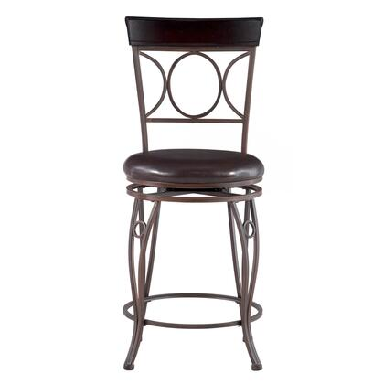 Linon 02730MTL01KDU Commercial or Residential PVC Upholstered Bar Stool