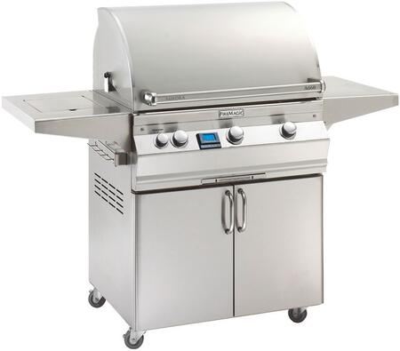 "FireMagic A660S5E1X62 Aurora 63"" Cart with 30"" Grill, E-Burners, Side Burner, Digital Thermometer, and Up to 75000 BTUs Heat Output, in Stainless Steel"