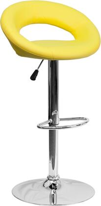 "Flash Furniture 32"" -40.75"" Bar Stool with Swivel Seat, Round-Orbit Design, Chrome Base, Footrest Ring, Gas Lift Adjustable Height and Vinyl Upholstery"
