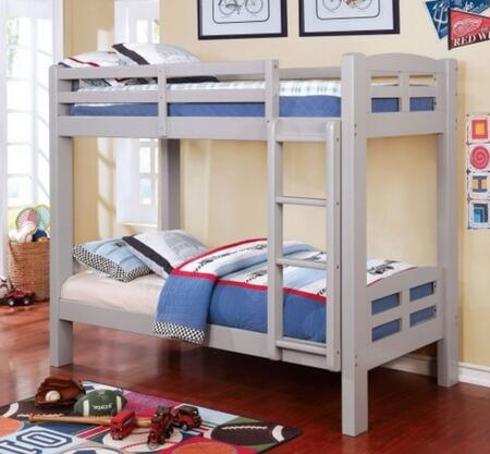 Furniture of America CMBK618TGYBED Solpine Series  Twin Size Bed
