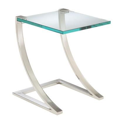 Sterling 6040947 Uptown Series Traditional Metal Square none Drawers End Table