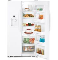 GE GSS22JETWW  Side by Side Refrigerator with 22 cu. ft. Capacity in White