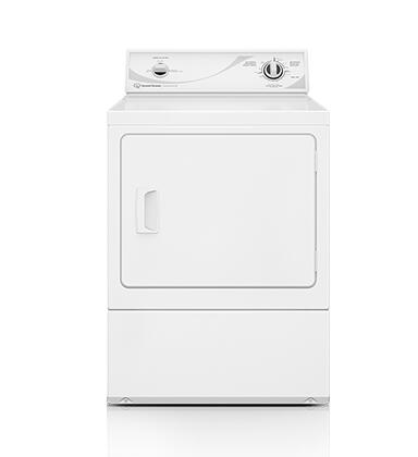 """Speed Queen ADX3SRGS 27"""" Dryer with 7.0 cu. ft. Capacity, Commercial-Grade Steel Cabinet, Secured Lint Filter, 3 Temperature Settings and ADA Compliant in White"""
