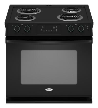 """Whirlpool WDE150LVB 30"""" Slide-in Electric Range with Coil Cooktop 4.5 cu. ft. Primary Oven Capacity"""