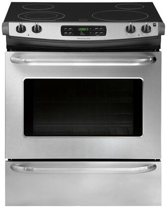 """Frigidaire FFES3025PS 30""""  Slide-in Electric Range with Smoothtop Cooktop, 4.6 cu. ft. Primary Oven Capacity, Storage in Stainless Steel"""