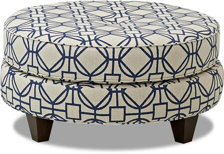 Klaussner Pippa Collection K21500 Ottoc 36 Ottoman With Round