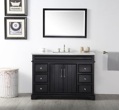 "Legion Furniture WH7748X 48"" Sink Vanity with Quartz Top, Rectangle Ceramic Sink and 3 Pre-Drilled Faucet Holes"