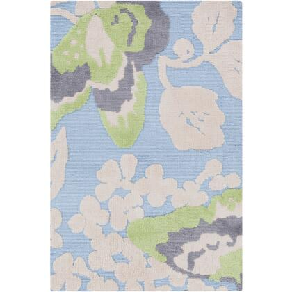 Surya Abigail ABI9001 100% Polyester Super Soft Rug with Loop Details, Cotton Canvas Backing, Low Pile, and Machine Made in China