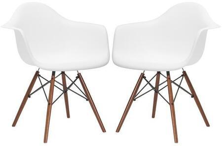 EdgeMod EM110WALWHIX2 Vortex Series Modern Wood Frame Dining Room Chair