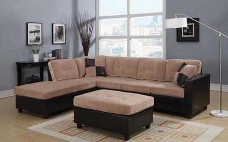 Acme Furniture 51230 Milano Series Sofa and Chaise Fabric Sofa