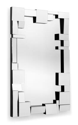 Zuo 850030 Construct Accents Series Rectangular Both Decorative Mirror