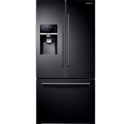 """Samsung RF26J7500 33"""" Wide, 26 cu. ft. Capacity 3-Door French Door Refrigerator with CoolSelect Pantry, Twin Cooling Plus, and Ice Master Space-saving Design in"""