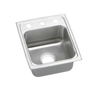 "Elkay LRAD1522550 15"" Top Mount Self-Rim Single Bowl 18-Gauge ADA Compliant Stainless Steel Sink"