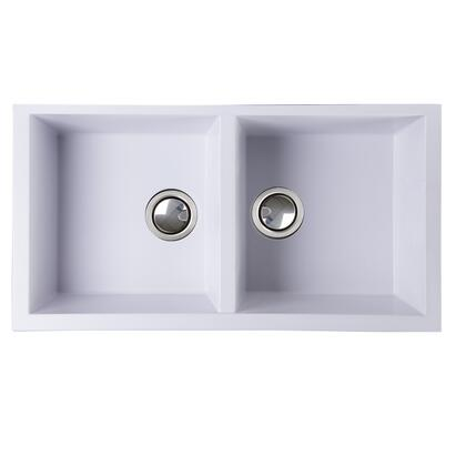 Nantucket PR3418 Large Double Bowl Undermount Granite Composite
